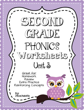 Second Grade Phonics Unit 3 Worksheets