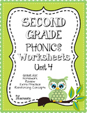 Second Grade Phonics Unit 4 Worksheets