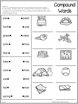 Second Grade Phonics Unit 6 - V-C-e, 2 Syllable Words, Trick Words