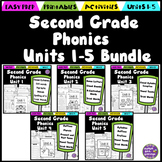 Second Grade Phonics Units 1-5 Bundle