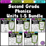 Second Grade Phonics Units 1-5 Bundle