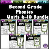 Second Grade Phonics Units 6-10 Bundle