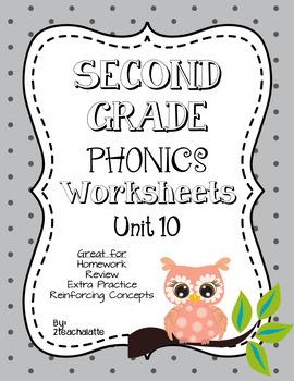 Second Grade Phonics Unit 10 Worksheets