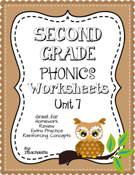 Second Grade Phonics Unit 7 Worksheets