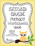 Second Grade Phonics Unit 6 Worksheets