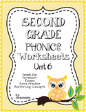 Second Grade Phonics Unit 6 Worksheets