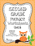 Second Grade Phonics Unit 5 Worksheets