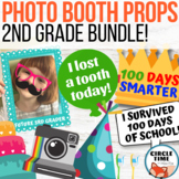 2nd Grade Photo Booth Props Bundle! First Day, End of Year, 100th, Halloween