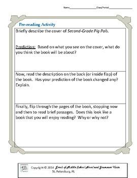 Second-Grade Pig Pals Literature and Grammar Unit