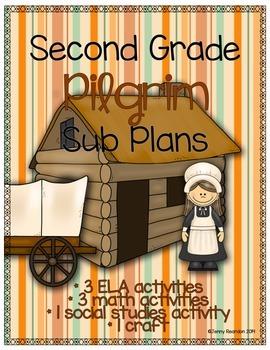 Second Grade Pilgrim Sub Plans - 8 Activities!