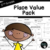 Second Grade Place Value Resource Pack (EDITABLE!, Standards Aligned)