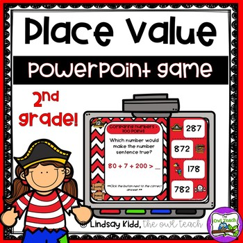 Second Grade Place Value:  PowerPoint Game