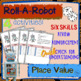 Second Grade Place Value Review: Roll-a-Robot