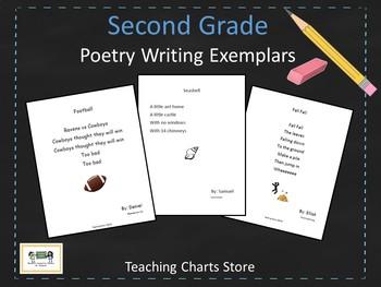 Second Grade Poetry Writing Exemplars (Lucy Calkins Inspired)