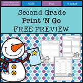 Second Grade Print 'N Go Free Preview