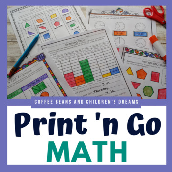 Second Grade Print \'N Go Winter Math by Coffee Beans and Children\'s ...