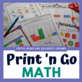 Second Grade Print 'N Go Winter Math