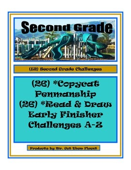Print Penmanship Writing with Read and Draw Challenge Cent