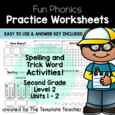 Second Grade Printable Phonics Worksheets Units 1 and 2