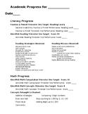 Second Grade Progress Report