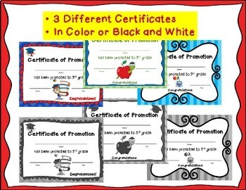 End of the Year Awards: 2nd Grade Promotion Certificates and Notecards