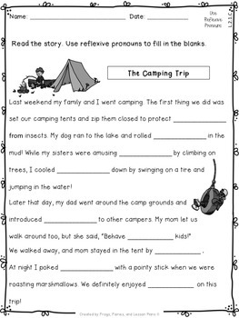 Second Grade Pronouns