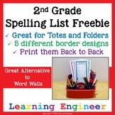 2nd Grade Spelling List