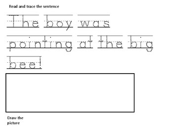 Second Grade Read, Trace and Draw