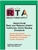 Second Grade Read and Respond Sheets for California Standards