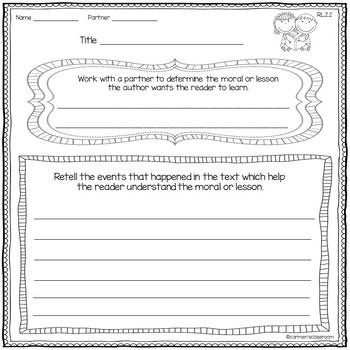 Second Grade Reader's Response Activities Folder-Use With Any Book RL 2.1-2.9