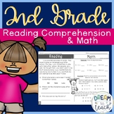 2nd Grade Reading Comprehension & Math - Morning Work or Homework