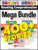 Second Grade Reading Comprehension NO-PREP ALL-IN-ONE MEGA BUNDLE (400+ STORIES)
