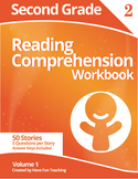 Second Grade Reading Comprehension Workbook - Volume 1 (50 Stories)