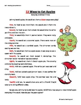 Second Grade Reading Comprehension Worksheets Teaching Resources ...