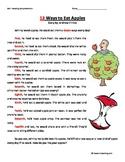 Second Grade Reading Comprehension Worksheet