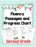 Second Grade Reading Fluency Passages & Progress Chart for