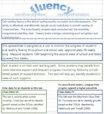 Second Grade Reading Fluency Tracker
