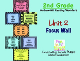 Second Grade Reading Focus Wall supports Unit 2 McGraw Hill Wonders Grade 2