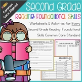 Second Grade: Reading: Foundational Skills Common Core No Prep Packet