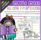 Second Grade Reading: Informational Text Common Core No Prep Packet
