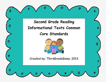 Second Grade Reading Informational Texts Common Core Standards