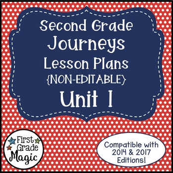 Journeys Lesson Plans 2nd Grade Unit 1