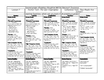 Journeys Lesson Plans 2nd Grade Unit 2
