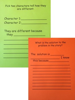 Fiction Reading Notebook with Text Evidence