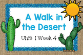 Second Grade Reading Street - A Walk in the Desert - Unit