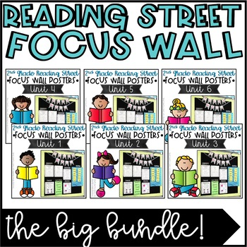 Second Grade Reading Street Focus Wall Posters BUNDLED - Units 1-6
