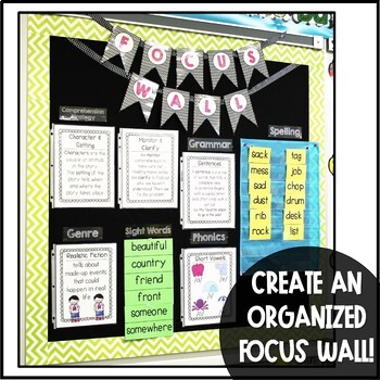 Second Grade Reading Street Focus Wall Posters BUNDLE - Units 1-6