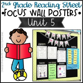 Second Grade Reading Street Focus Wall Posters - Unit 5