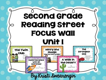Second Grade Reading Street Focus Wall Unit 1
