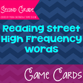 Second Grade Reading Street High Frequency Word Game Cards